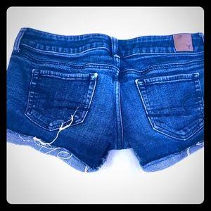 American Eagle Shorts cuffed Raw Hem Dark 6 cutoff